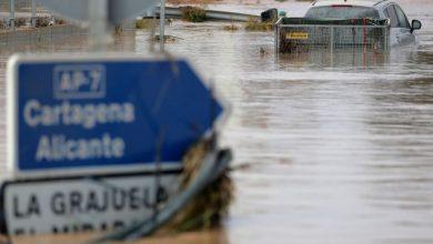 Photo of Spain underwater after torrential rains –